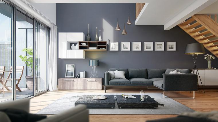 又酷又简洁的现代客厅_16