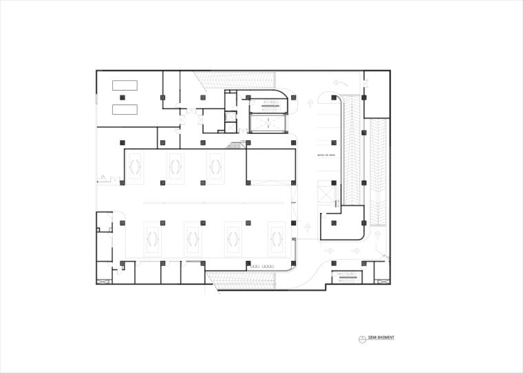 九转回环、流畅现代的车展大厅及办公楼设计_3