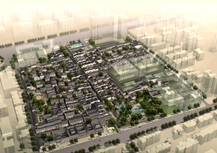 [湖南]长沙太平街历史文化街区保护规划景观方案文本