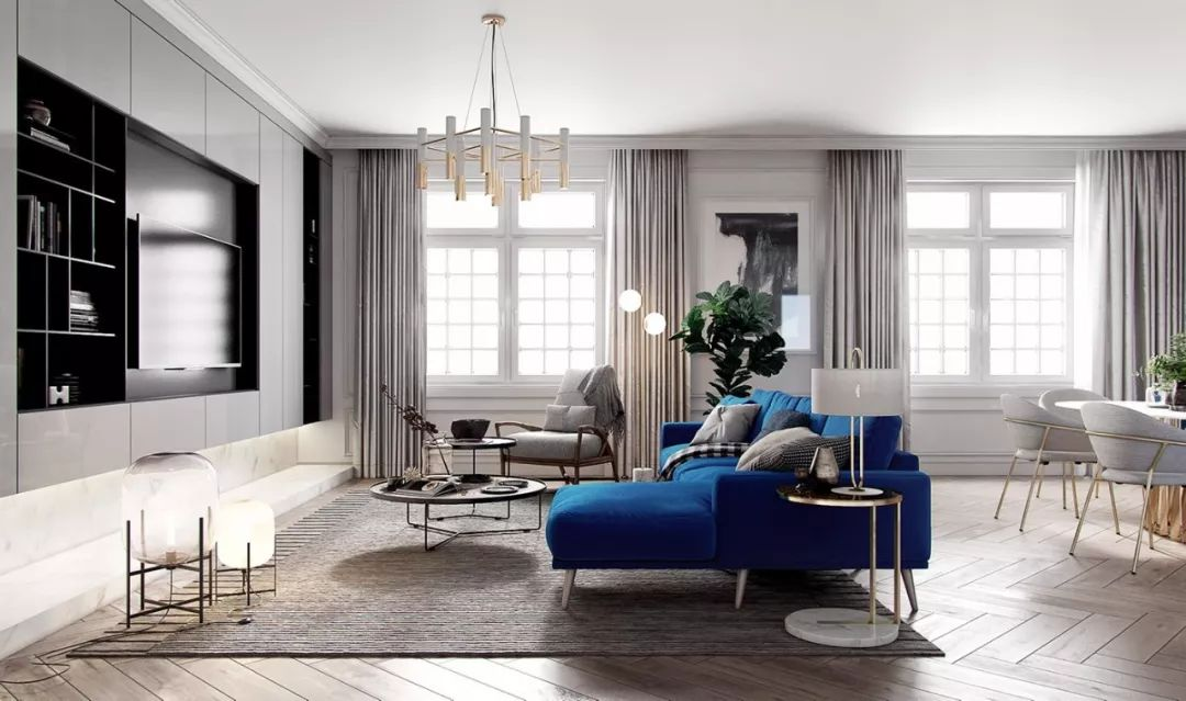 现在客厅都流行这么装,快扔掉你家笨重的大沙发吧!_9