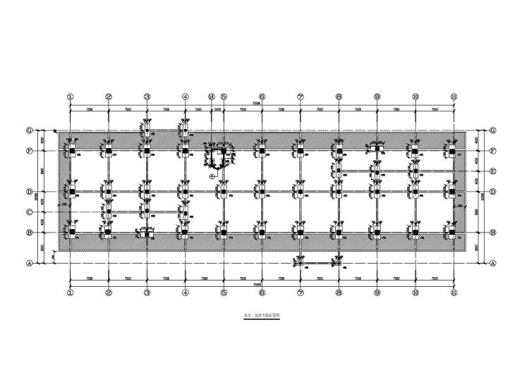 [海南]二层框架结构博物馆结构施工图(CAD、13张)