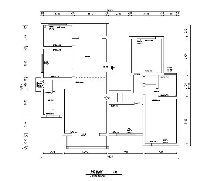 [贵州]地中海风格200平米四幕墙住宅设计施工居室图纸建筑dim图片