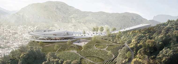 Snøhetta新作:依山就势,绵延起伏的博尔扎诺新博物馆园区