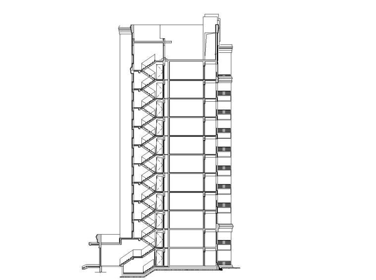 [上海]欧陆风格住宅区建筑施工图设计(CAD)