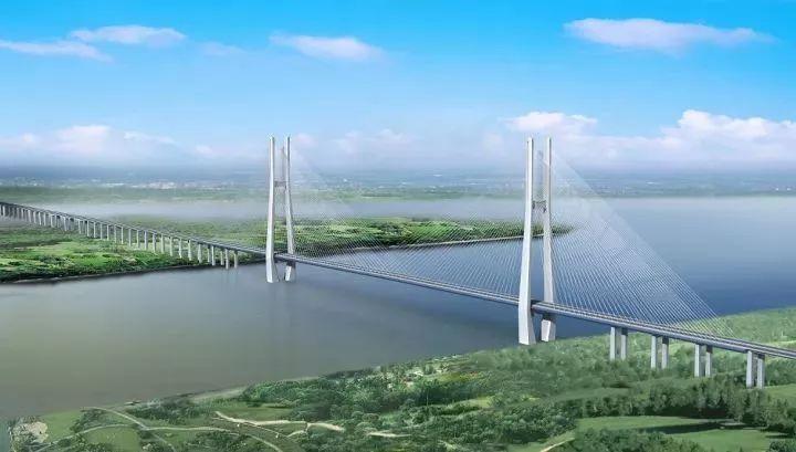 安九铁路鳊鱼洲长江大桥工地标准化工地建设