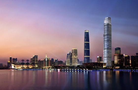 BIM技术应用于广州东塔建设