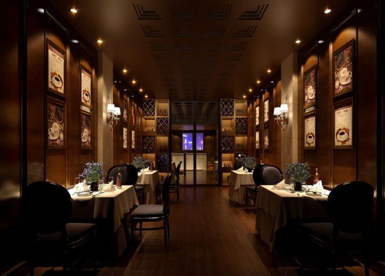 (原创)西餐厅设计案例效果图