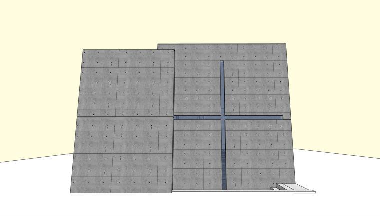 安藤忠雄光之教堂建筑模型设计