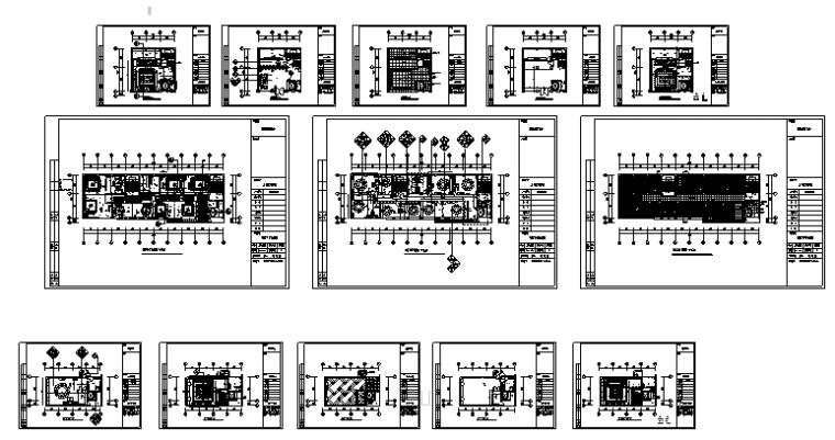 20套餐饮空间装修设计施工图_5
