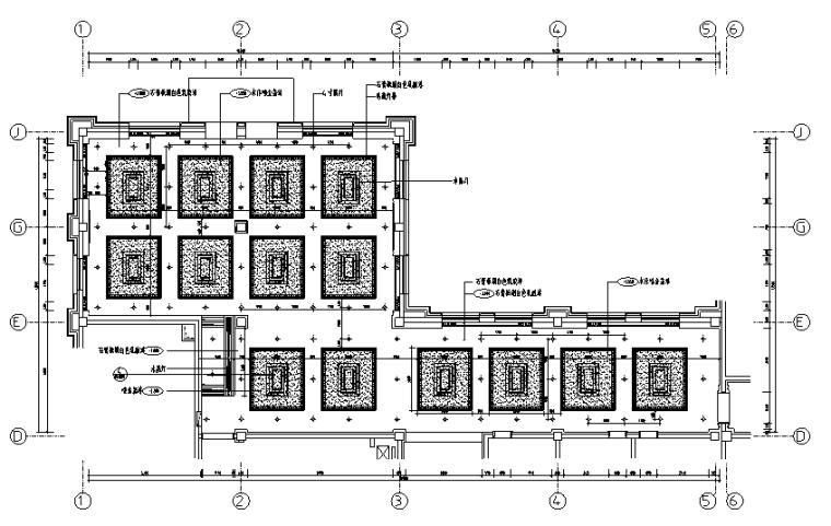[黑龙江]旅游度假服务区综合楼室内设计施工图(附效果图)