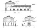 西班牙风格独栋单层售楼处建筑设计方案施工图CAD
