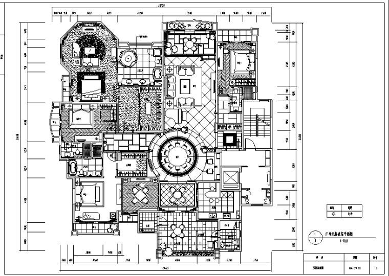 [北京]邱德光星河湾F型样板间施工图