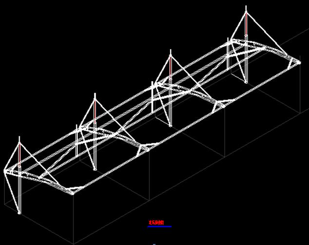 车棚膜结构设计与安装过程_2