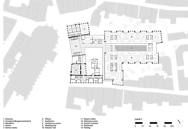全新代芬特尔市综合体建筑平面图(18)