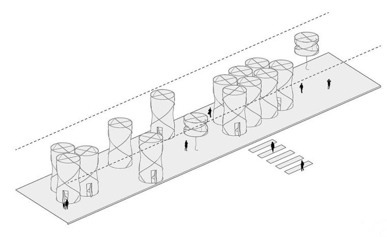 激活桥下的模块化空间装置-5