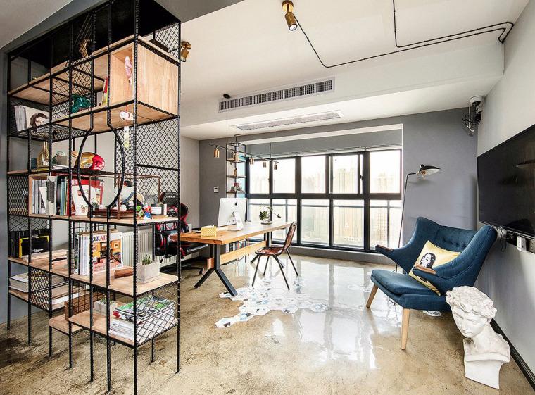 透着轻工业风格的办公空间-7