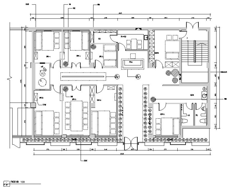 [新疆]竹林自然风茶室空间设计施工图(附效果图)_4