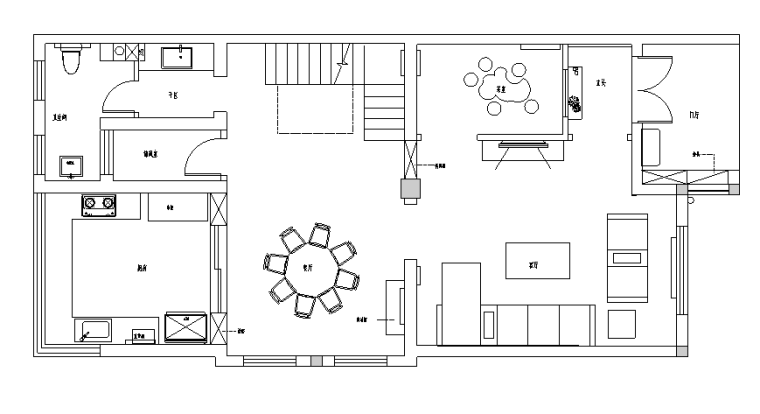 新中式风格别墅空间设计施工图(附效果图)