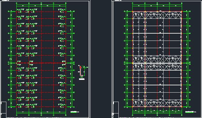钢混框架结构拼接厂房施工图纸(含建筑结构、给排水)_3