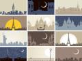 著名城市地标建筑剪影,有喜欢的吗?