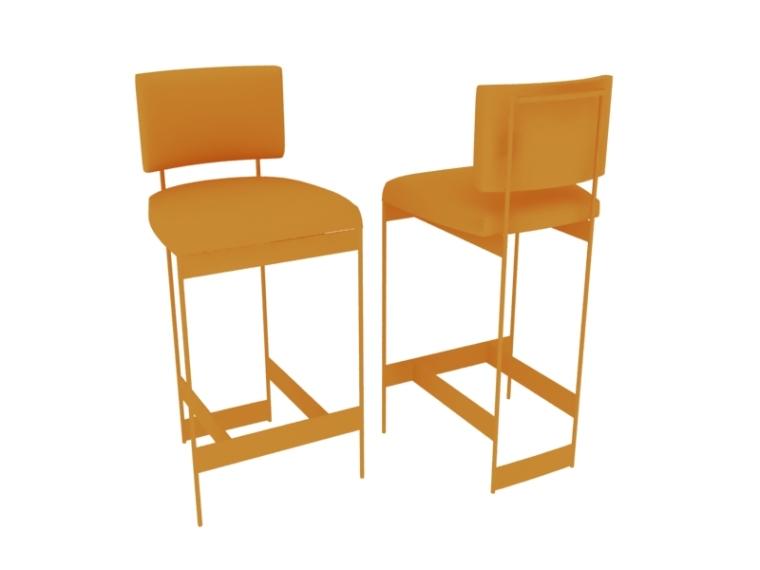 欧式吧椅3D模型下载