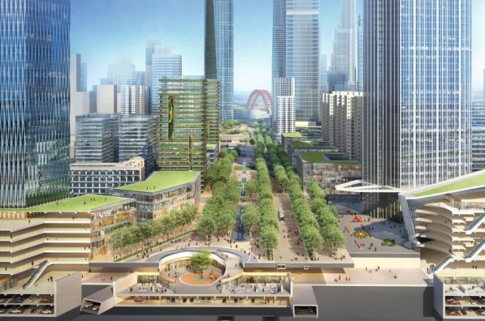 [湖北]生态海绵城市中央绿轴地下立体化商业广场景观绿化设计方案(2017最新)_3