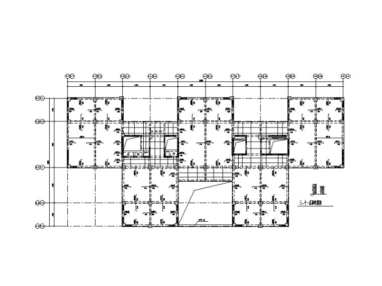 主楼+裙房+地下室结构施工图2011