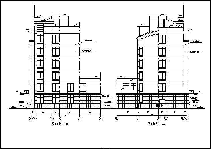 现代多层办公建筑设计全套施工图CAD