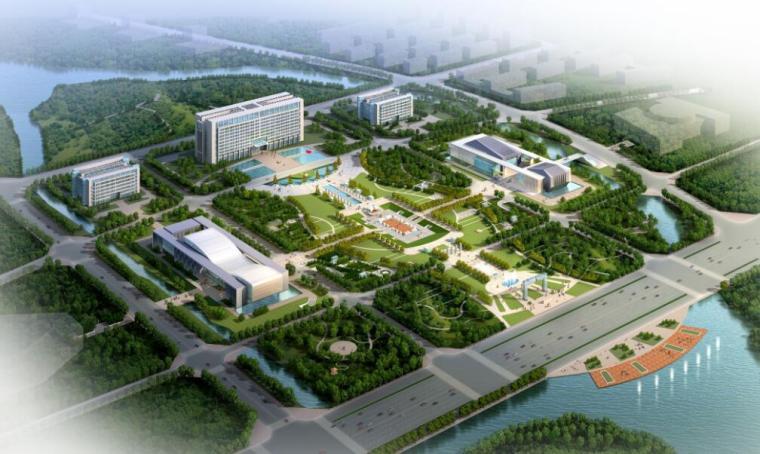 [安徽]某市现代风格政务中心办公楼(CAD+SU+文本)