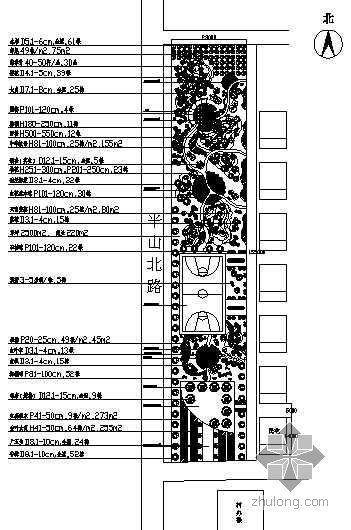 [浙江宁波]某村中心广场景观设计平面图