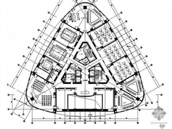 [上海]知名商区写字楼内装竣工图(含效果图)