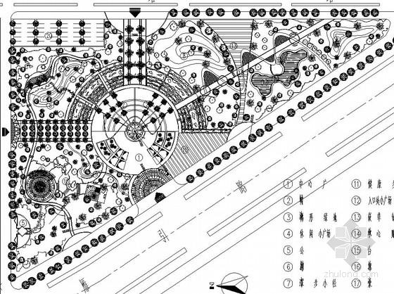[西安]城市中心广场园林景观工程施工图