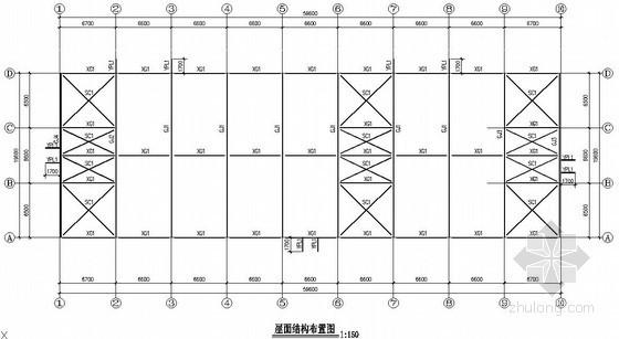 [福建省]某工业园带夹层厂房门式刚架厂房结构设计图