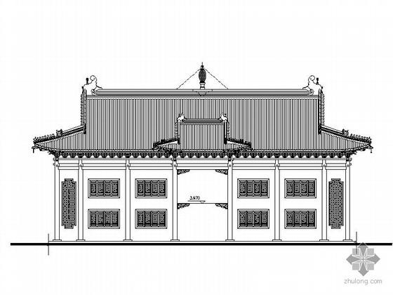 某佛寺天王殿建筑施工图