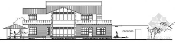 某二层现代别墅建筑方案(A户型)