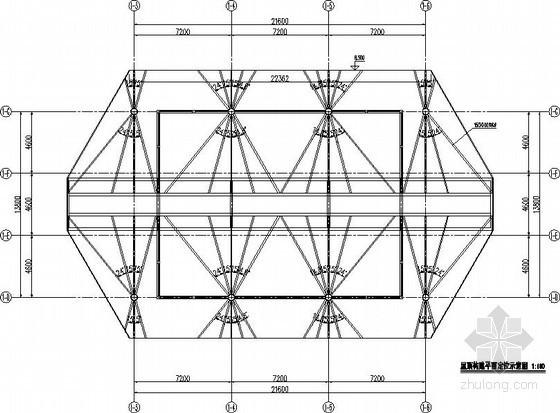 会所钢屋顶结构节点构造详图