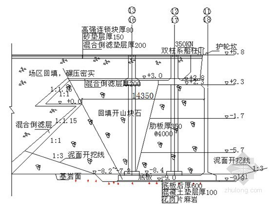 码头岸壁扶壁结构施工图