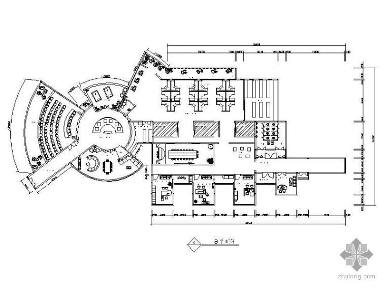 [毕业设计]某商贸公司办公空间设计图(含效果)