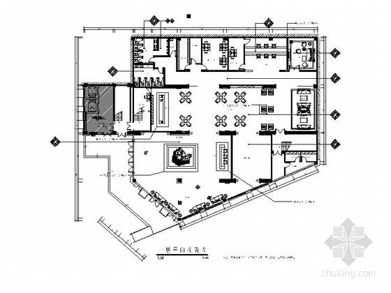 [重庆]住宅区精致现代售楼处室内装饰施工图
