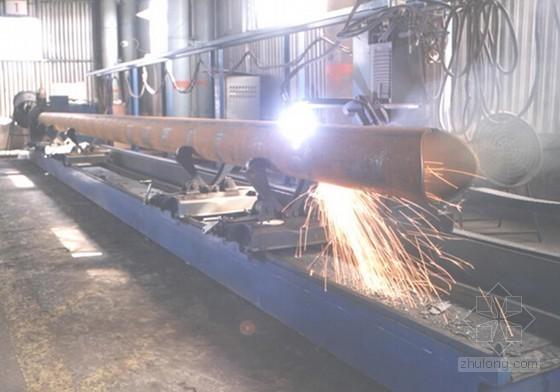[山东]体育中心钢结构管桁架制作加工施工方案