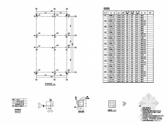 [福建]三层现浇框架结构商业楼结构施工图
