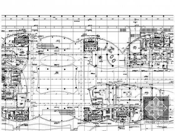 [湖北]全球首座室内电影乐园强电施工图纸(国内外顶级设计院审图意见)-照明平面图