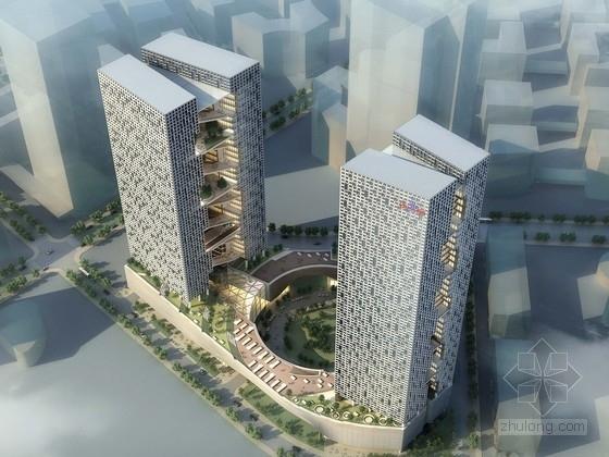 [深圳]现代风格超高层知名企业办公楼设计方案文本