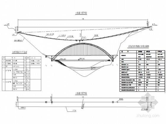 铁路中承式钢管混凝土拱特大桥工作索施工方案设计(77页 大量CAD图)