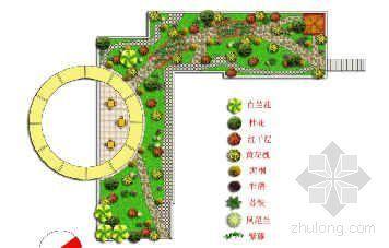 某屋顶花园设计平面图