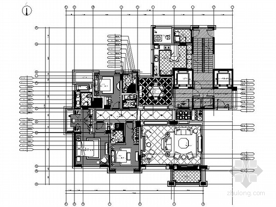 [杭州]古典欧式三室两厅装修图(含效果实景)