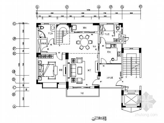 [江苏]花园洋房现代时尚复式装修施工图(含电气图)