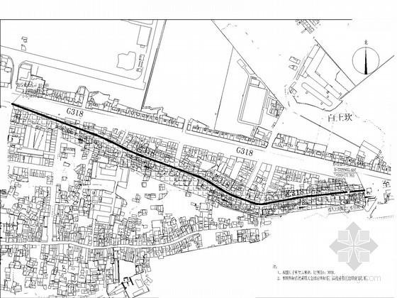 [四川]1.1公里市政道路给排水施工图纸