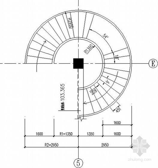 钢结构螺旋楼梯节点构造详图