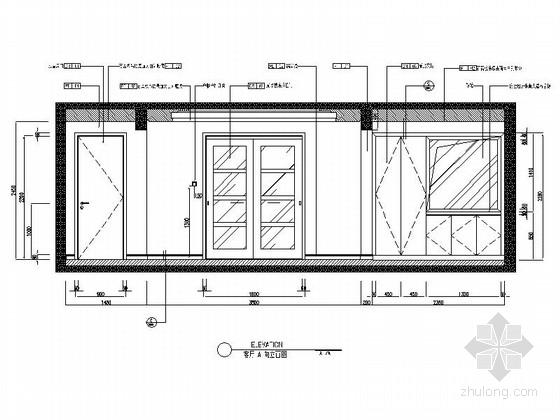 [沈阳]地产集团时尚现代三居室样板间装修图客厅立面图